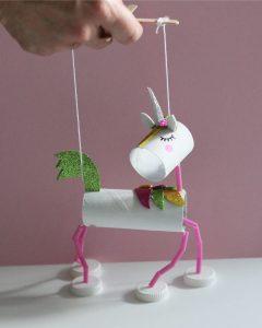 Marionet knutselen eenhoorn confettico kampen ijsselmuiden