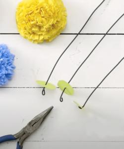 bloemen crepe papier zelf maken